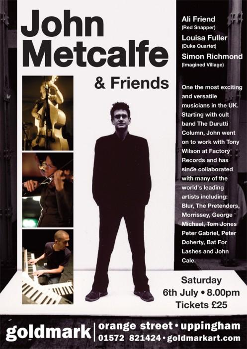 John Metcalfe Band live at Goldmark Gallery